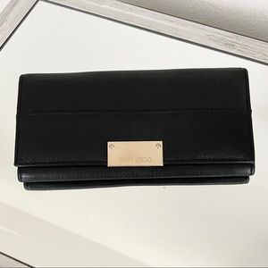 Jimmy Choo Long Black Wallet